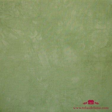 Tela lisa marmoleada verde claro