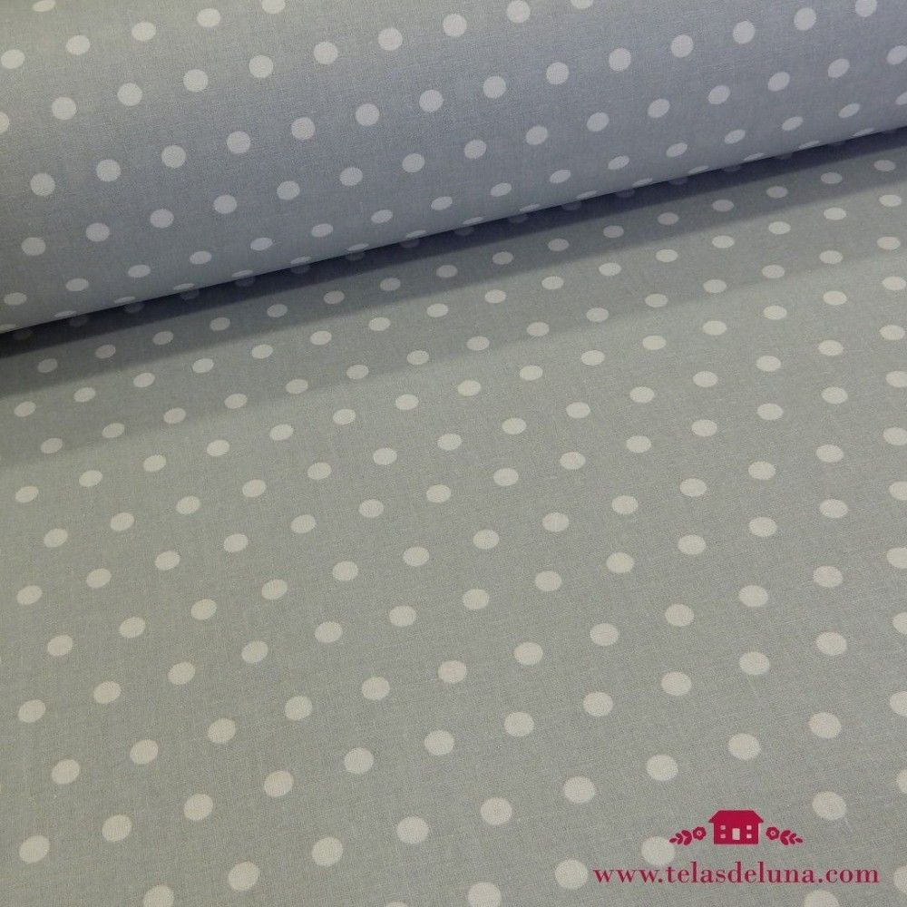 Mantel resinado topos fondo gris