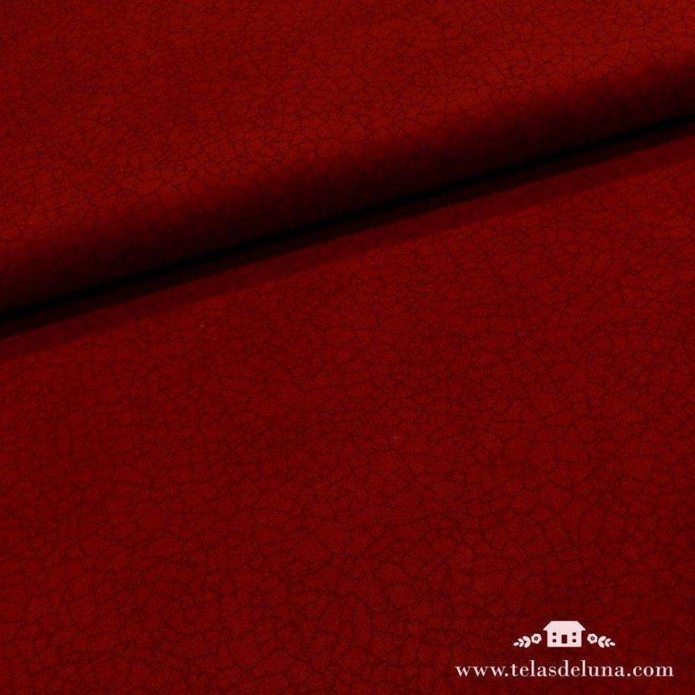 Tela roja craquelada Moda Fabrics