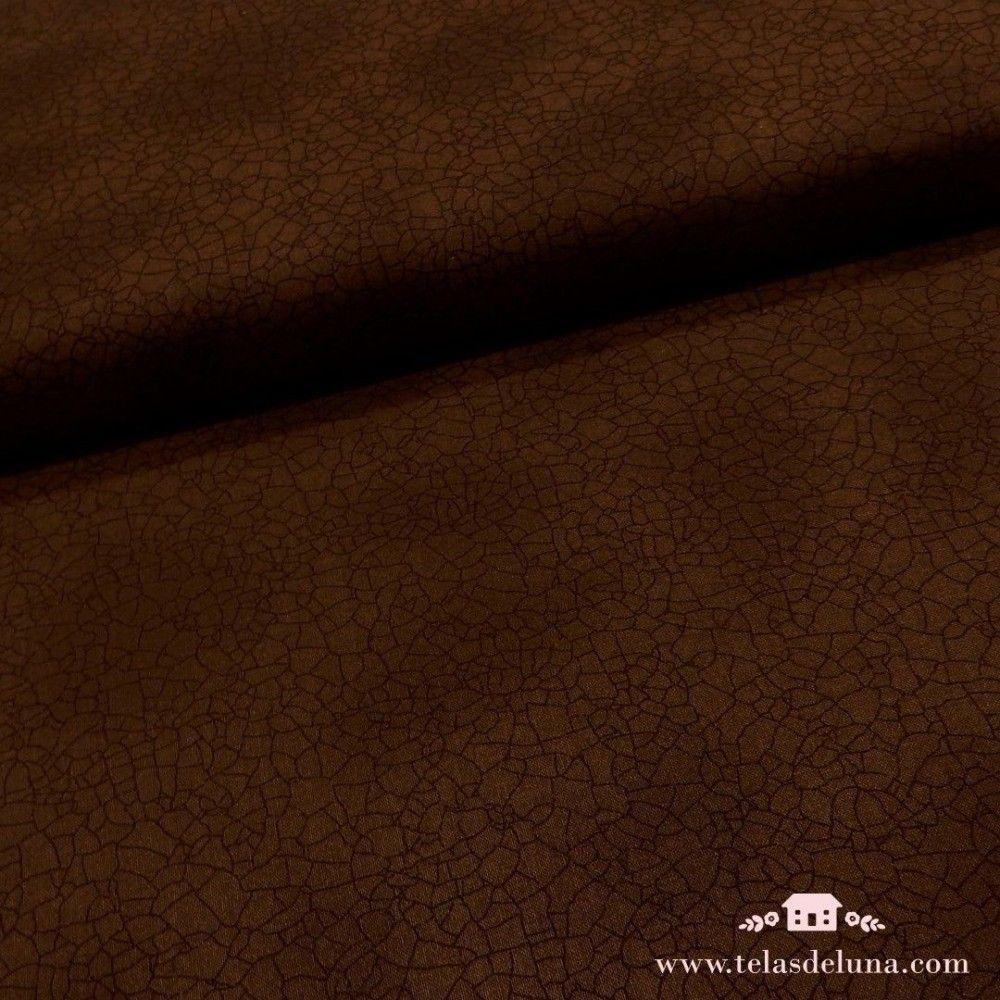 Tela marrón oscuro craquelada Moda Fabrics