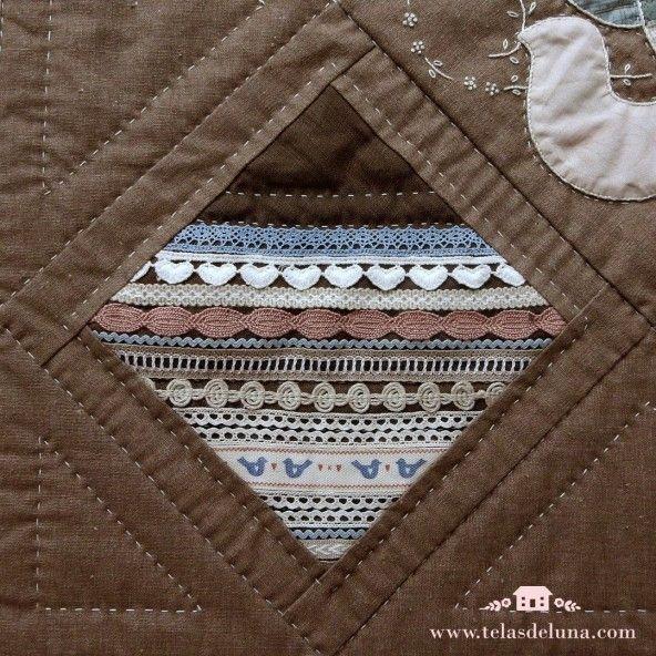 Kit Quilt Bloque 11 Puntillas / con telas