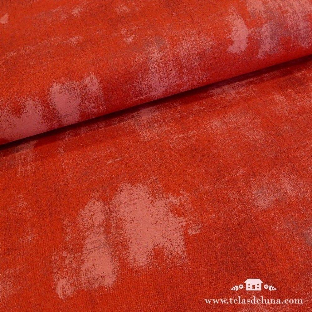 Tela grunge Moda Fabrics roja