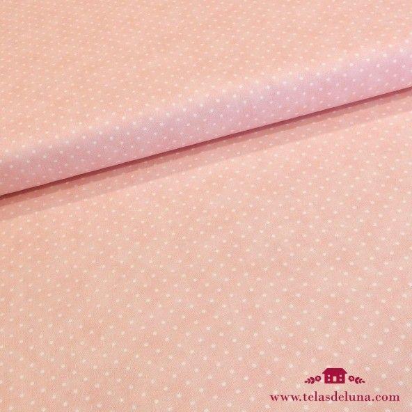 Tela rosa Moda Fabrics topos