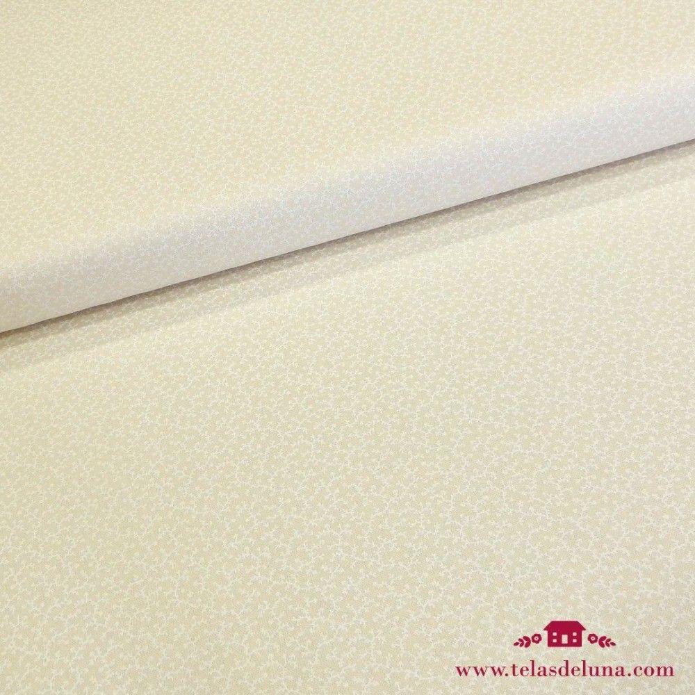 Tela beige Moda Fabrics ramilletes