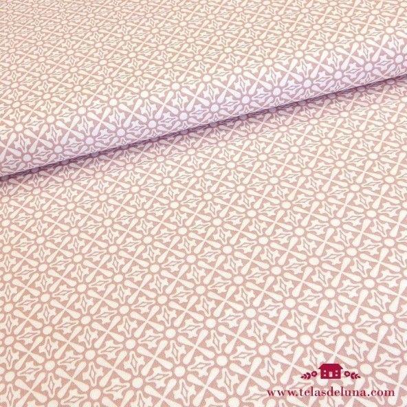 Tela mosaico rosa Gütermann