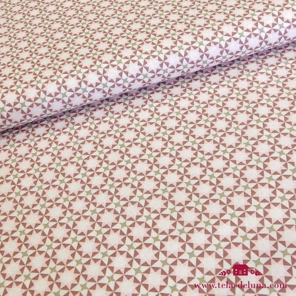Tela Gütermann mosaico estrella rosa