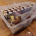 Caja organizadora con compartimento hilos