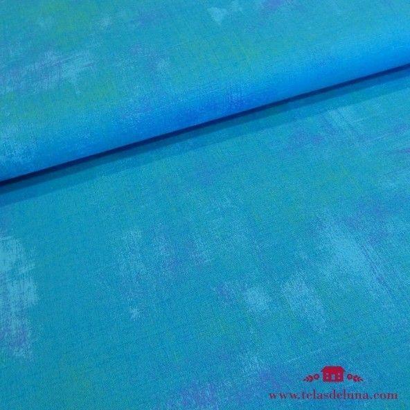 Tela Moda Fabrics azul grunge