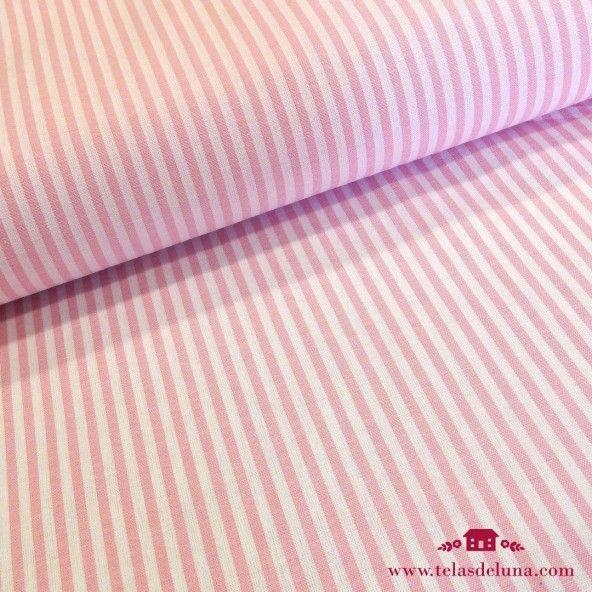 Tela rayas rosa