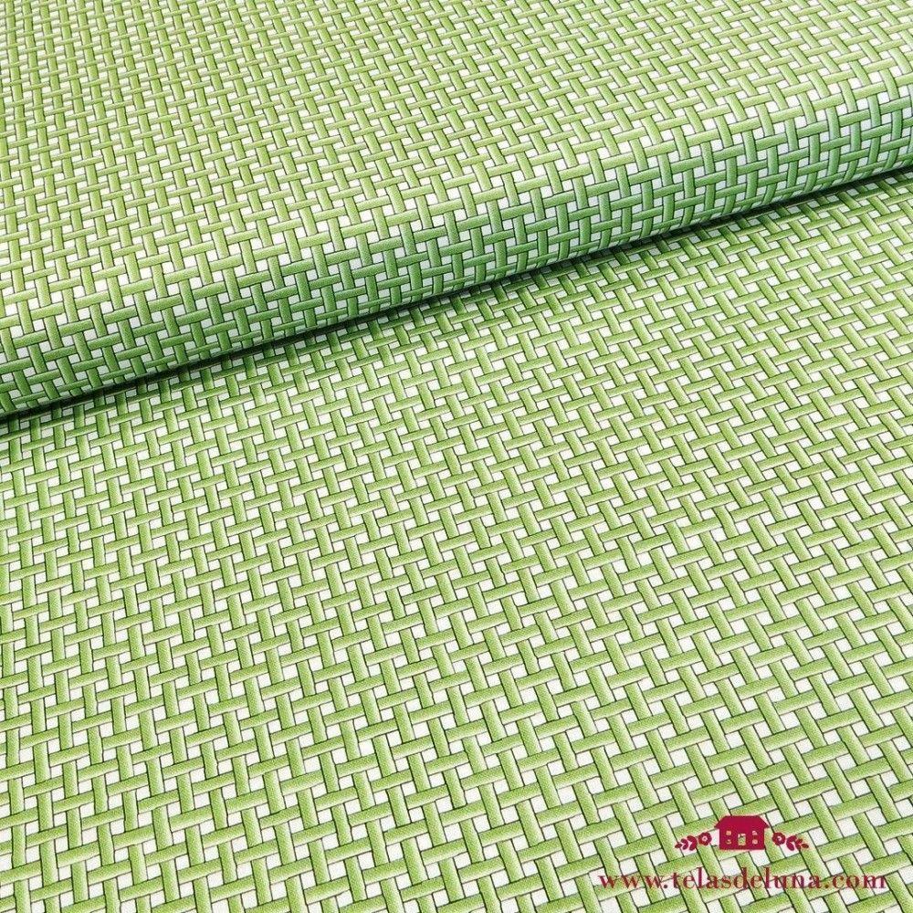 Tela mosaico verde
