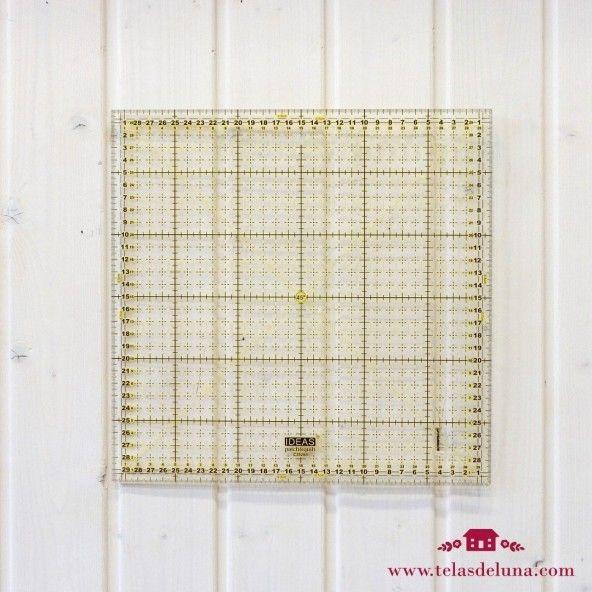 Regla cuadrada patchwork 30x30cm