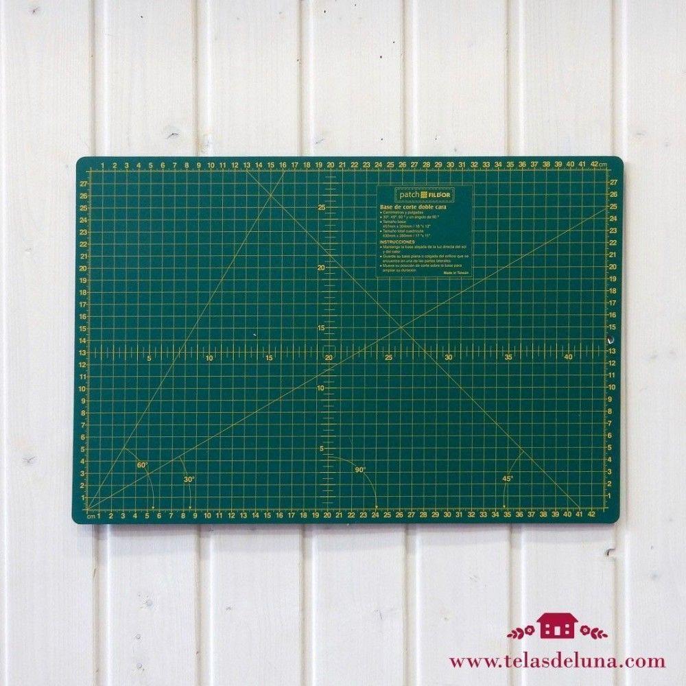 Base de corte (pulgadas y centímetros)