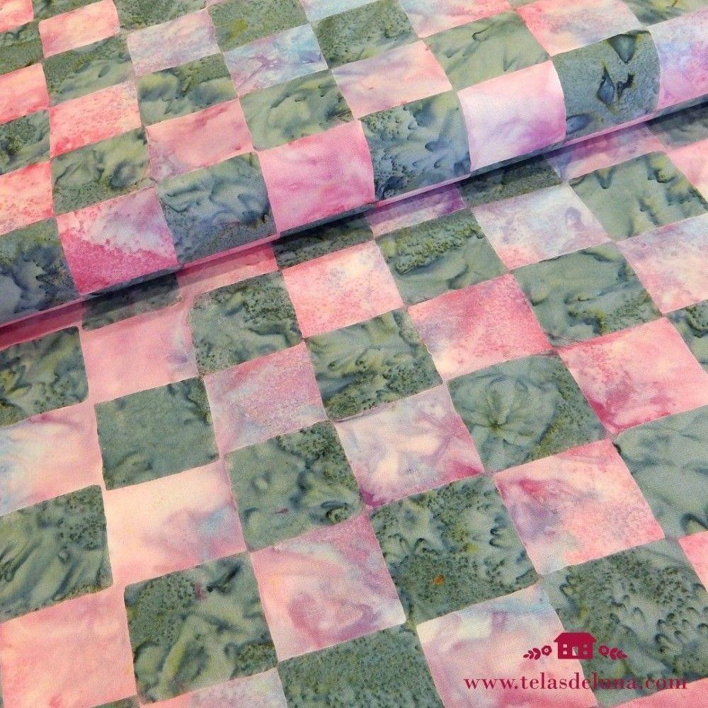 Tela batik a cuadros Kaffe Fassett Artisan