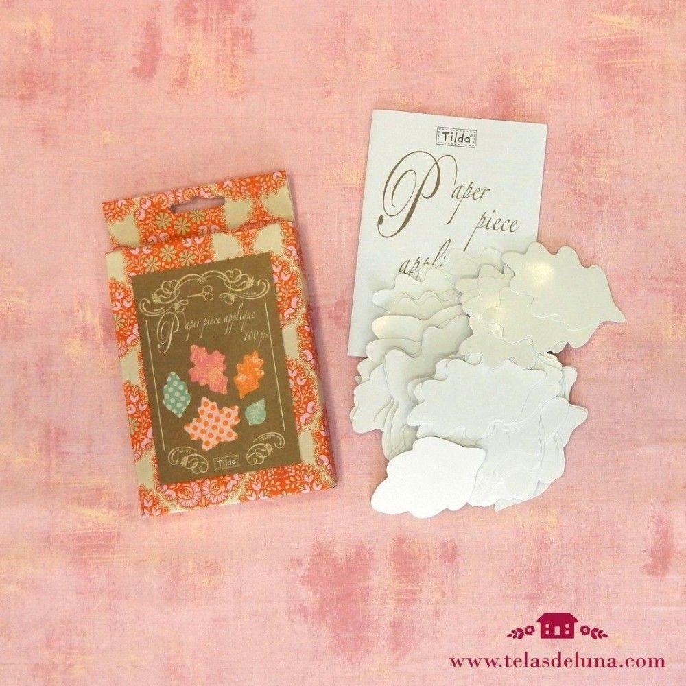 Paper piece applique hojas Tilda