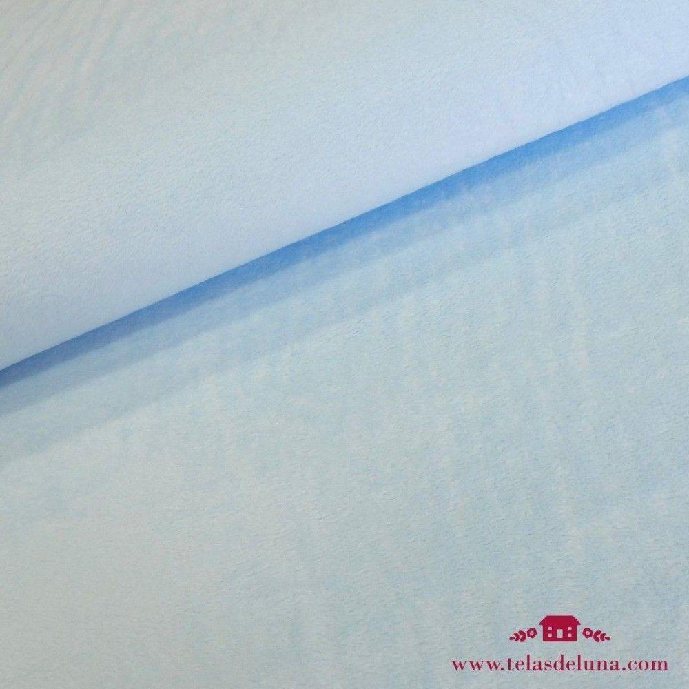 Tela forro polar azul bebé