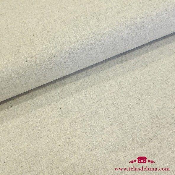 Tela de lana gris claro