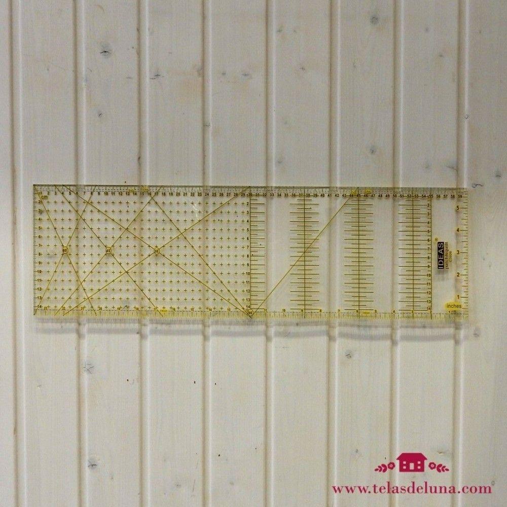Regla patchwork 60x15cm (en cm y pulgadas)