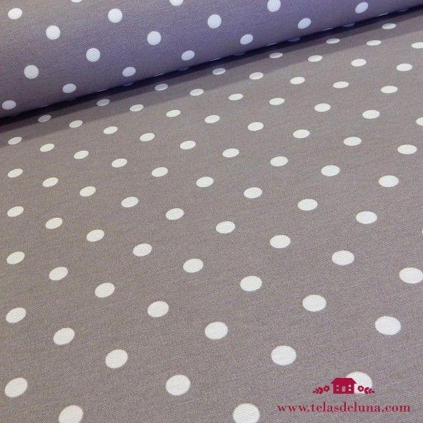 Mantel antimanchas topos gris