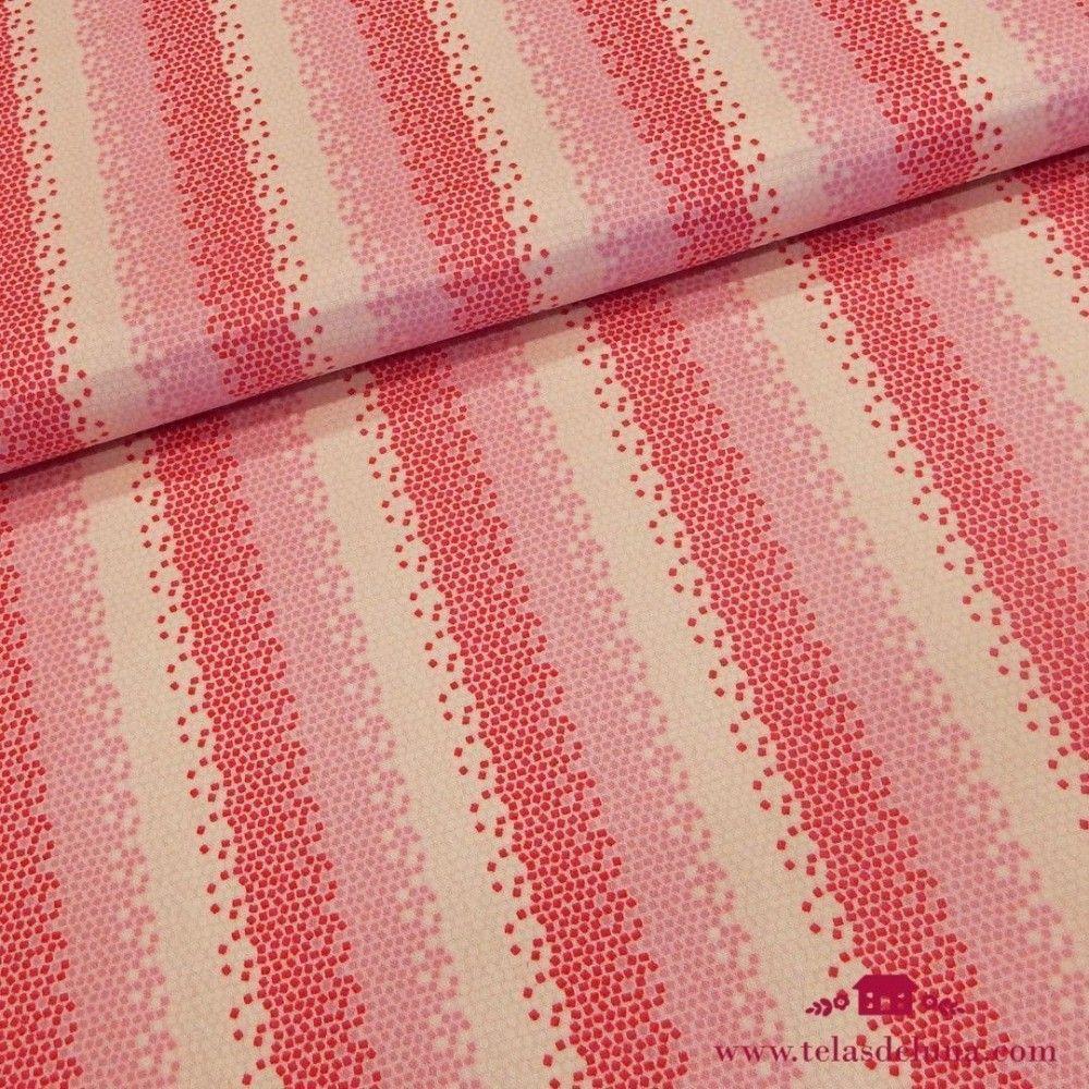 Tela Tilda mosaico roja