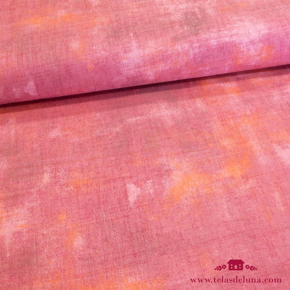 Tela grunge rosa toques naranjas