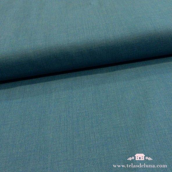 Tela azul lisa Moda Fabrics