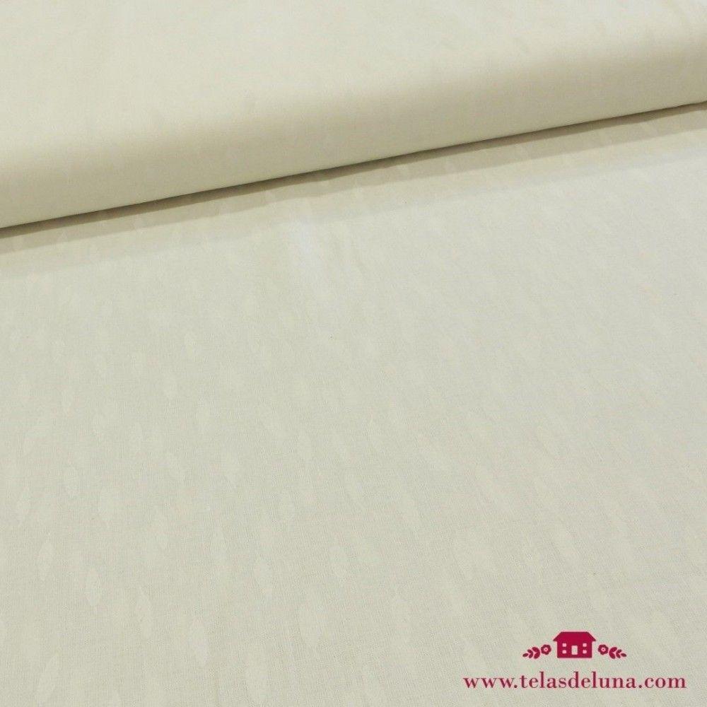 Tela blanco roto plumas blancas