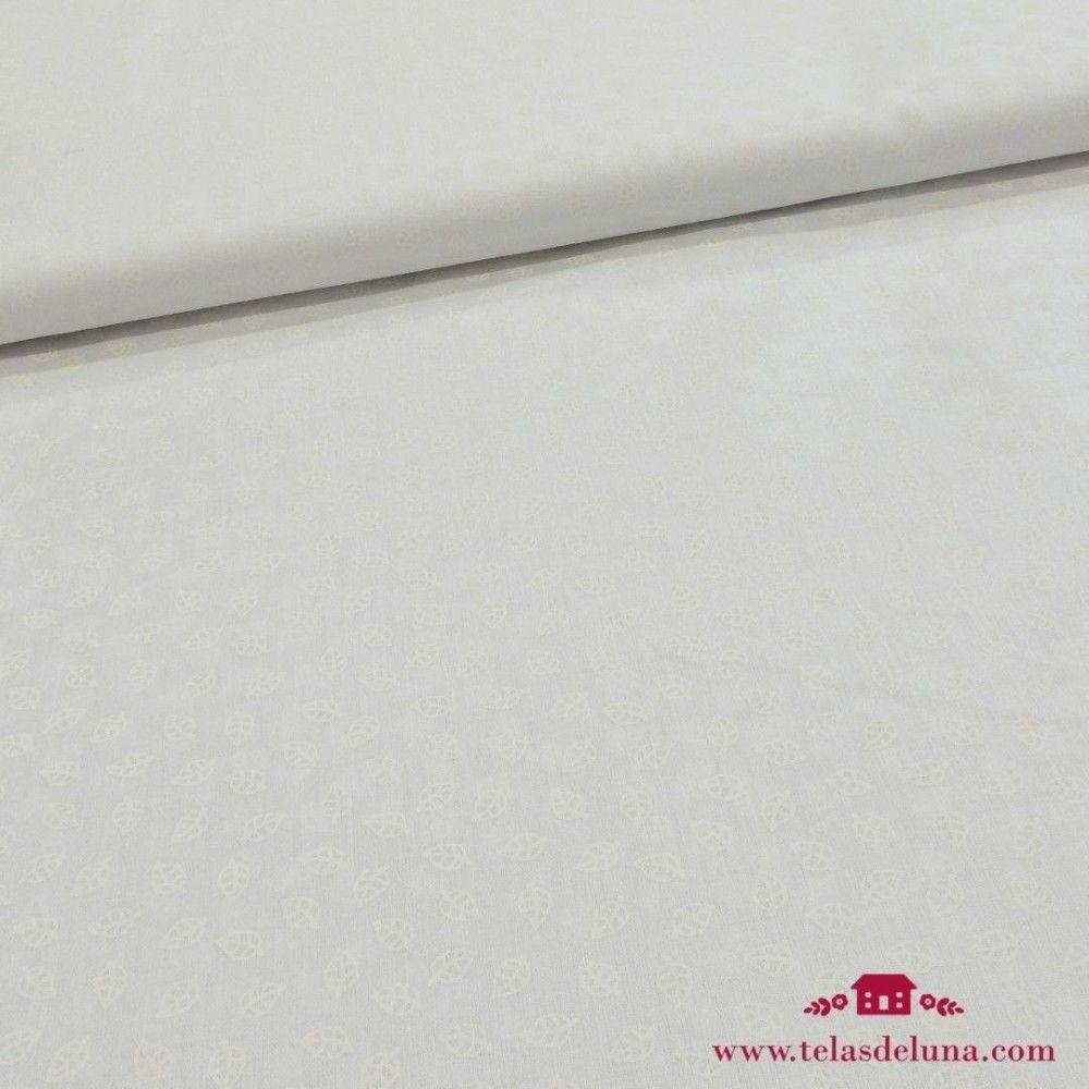 Tela blanca hojas blancas