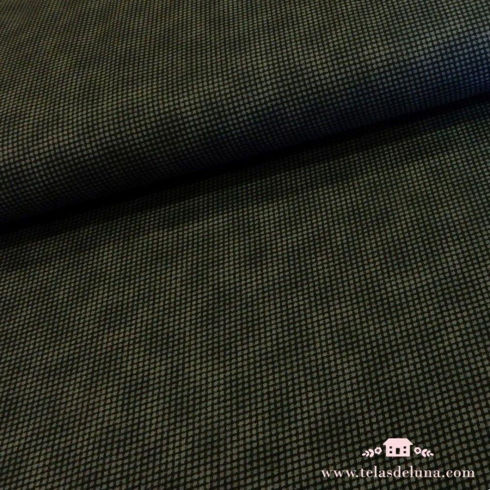 Tela japonesa cuadrados negros