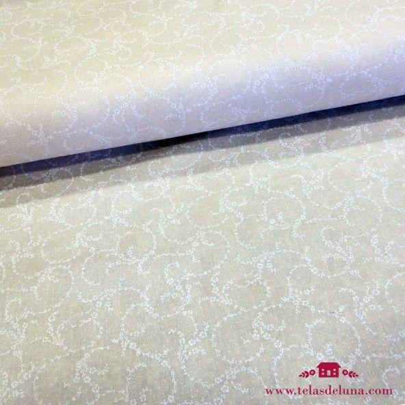 Tela japonesa blanco roto espiral