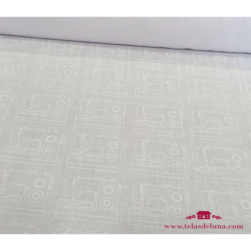 Tela blanca maquinas de coser