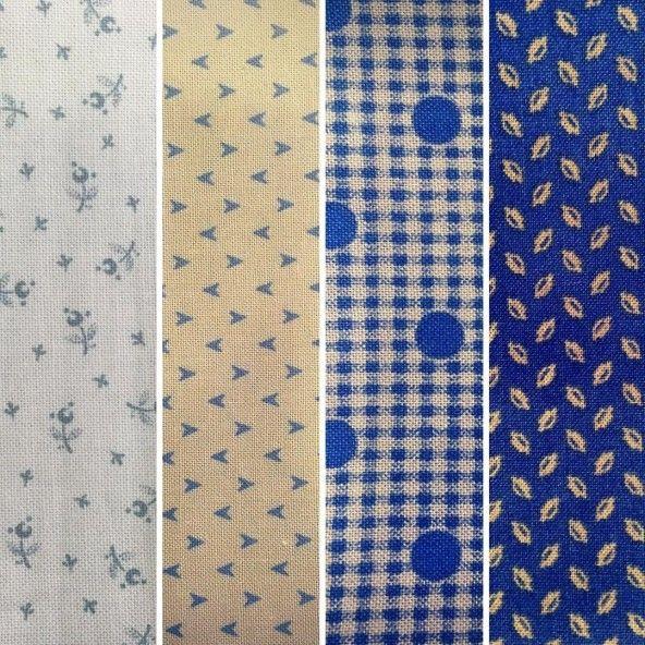 Fat Quarters telas americanas azules beige