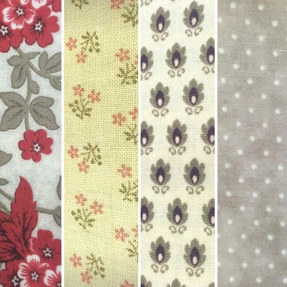 Fat Quarters estampado flores Moda