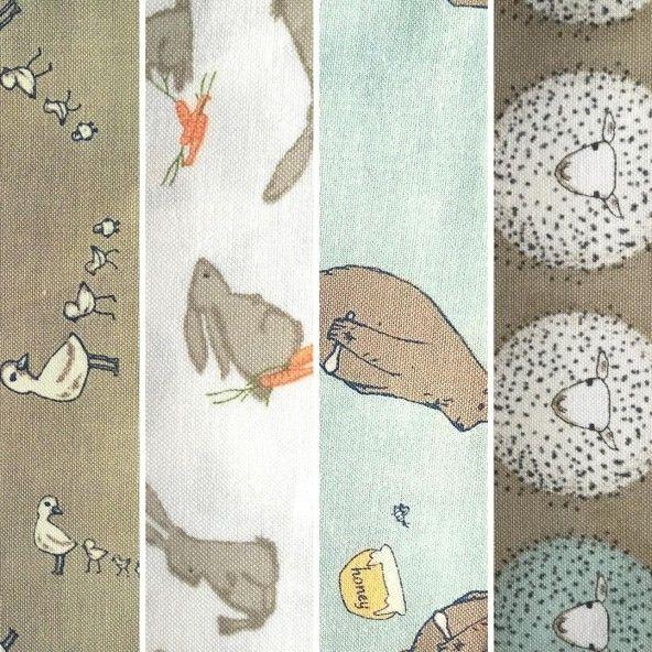 Fat Quarters telas infantiles animales
