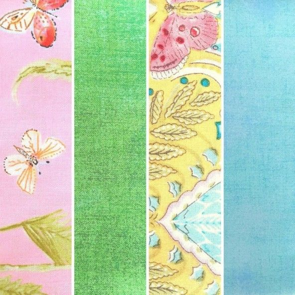 Fat Quarters mariposas colores vivos