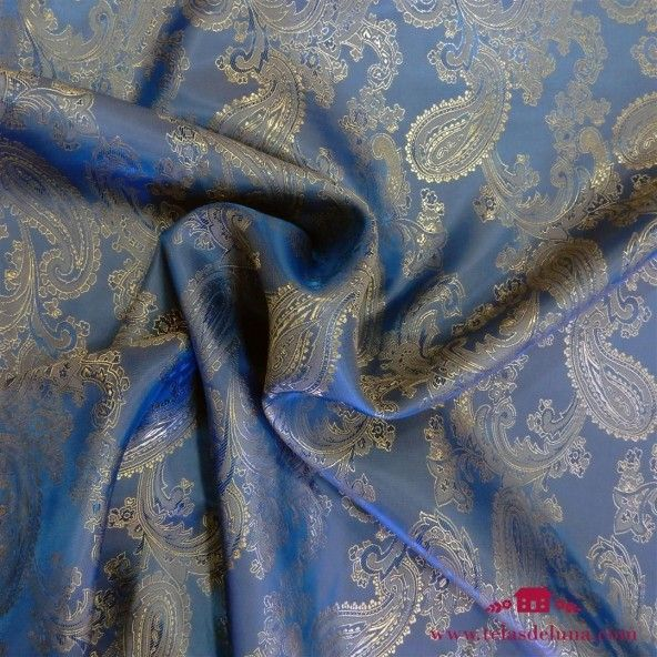 Tela viscosa cachemir azul