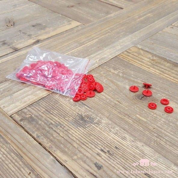 Broche Rojo Snap rojo