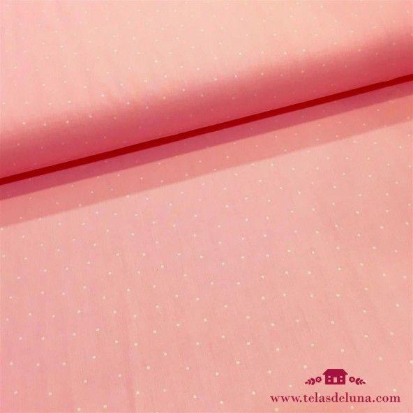 Tela rosa clarito puntos