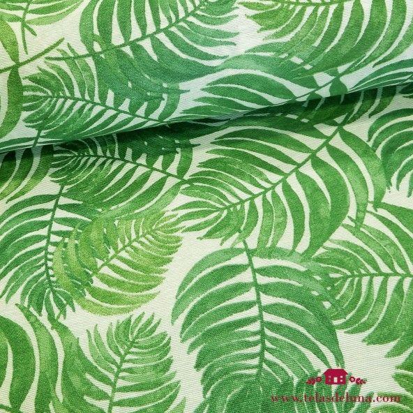 Mantel antimanchas helechos verdes