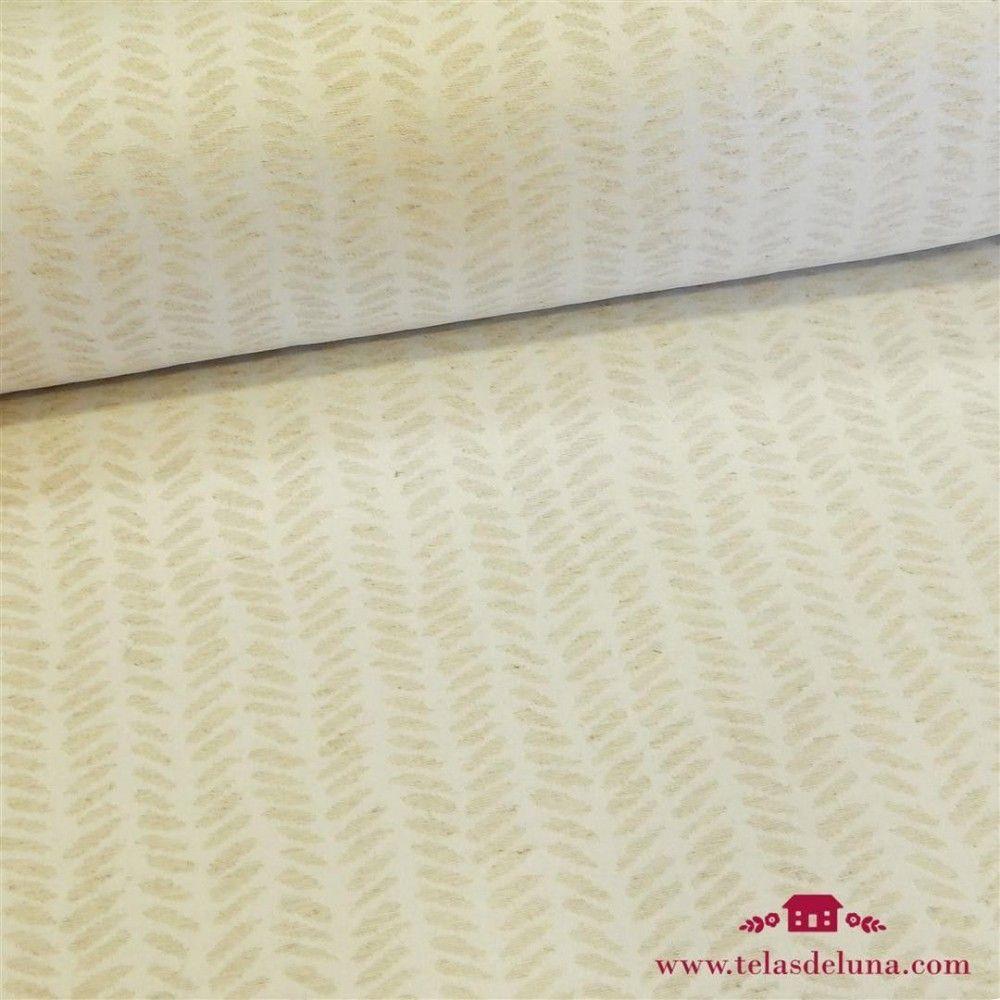 Mantel antimanchas lino con detalles beige