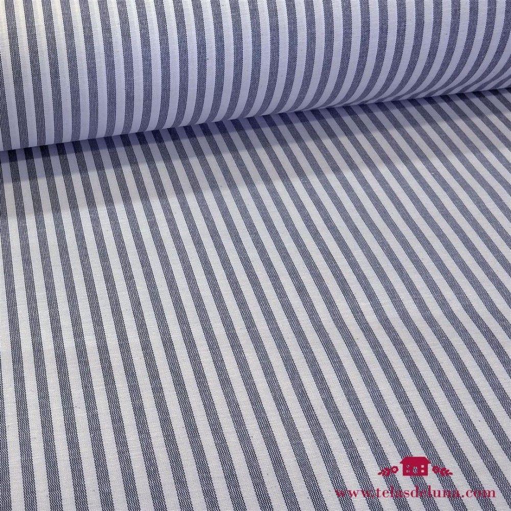 Mantel resinado antimanchas rayas marinas 140cm