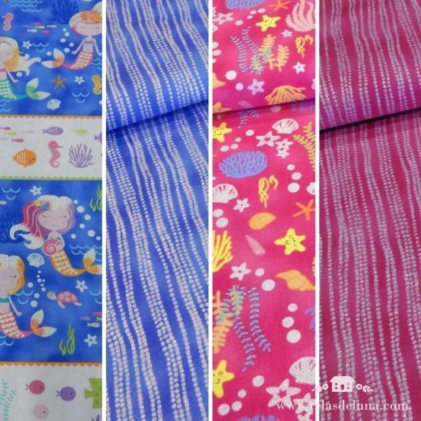 Fat quarters sirenitas brillantes