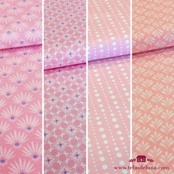 Fat quarters rosa bebe gutermann
