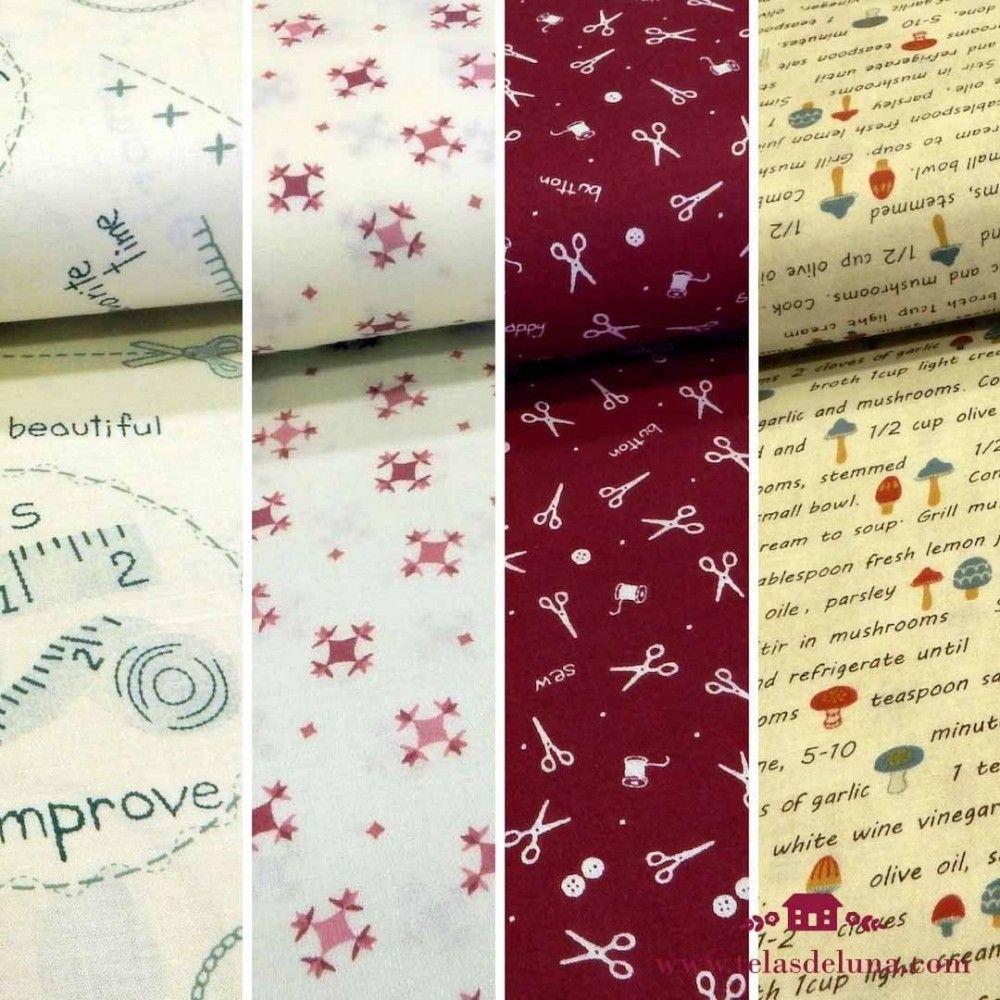Fat quarters telas japonesas estampadas