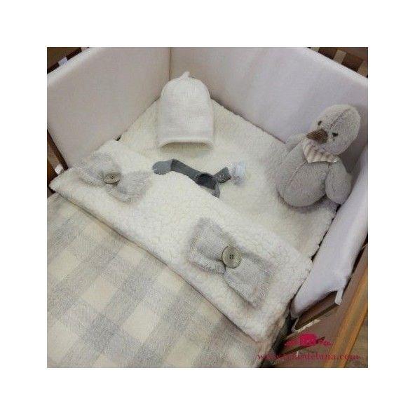 Patron saco gris de lana