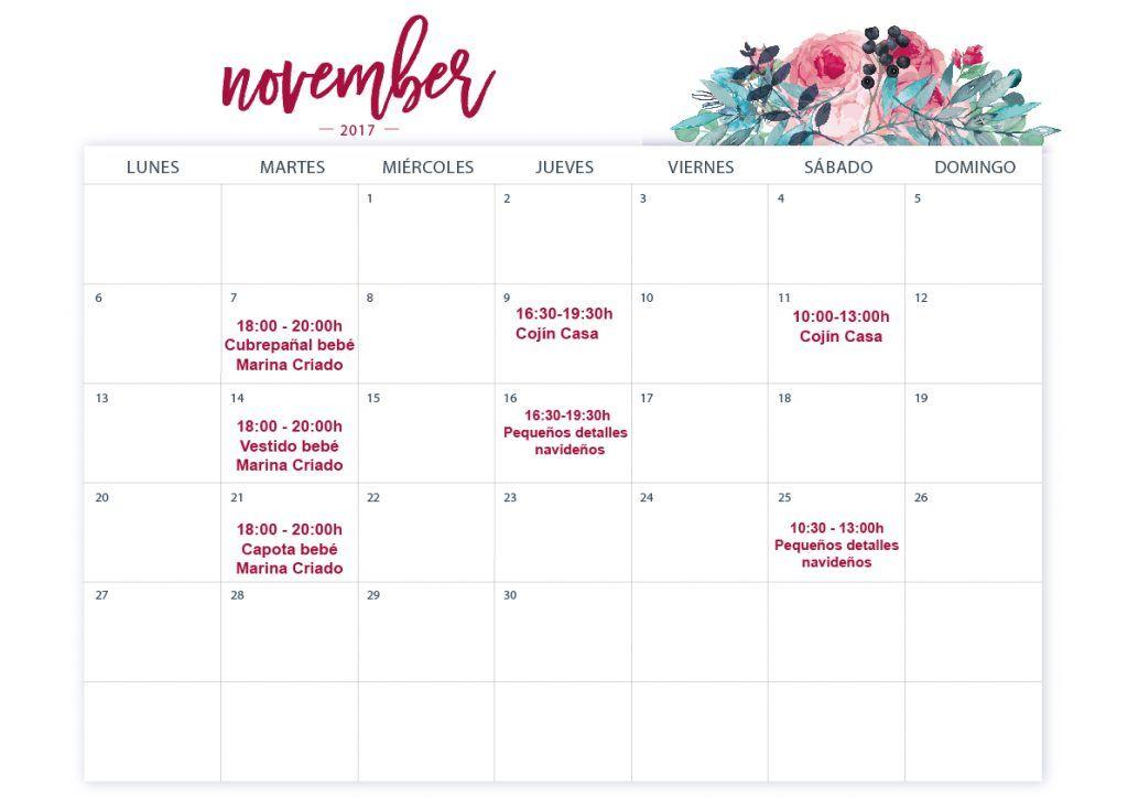talleres manualidades noviembre 2017 zaragoza