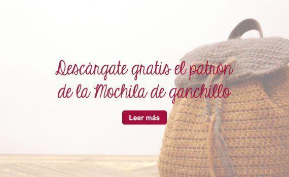 descarga gratis Mochila ganchillo patron crochet lanas DIY Telas de luna