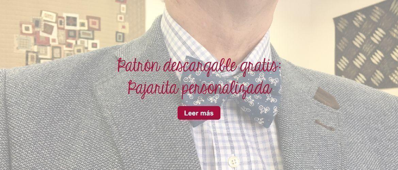 patrón descarga gratis pajarita patchwork manualidades diy