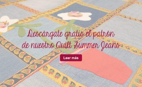 descarga gratis patrón quilt patchwork tela vaquera