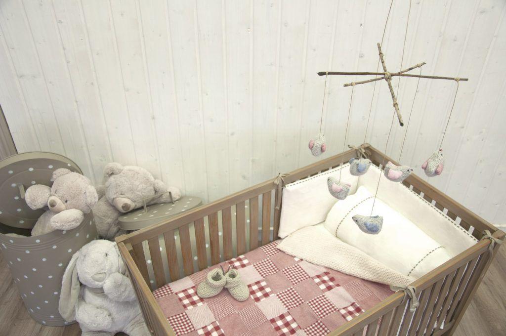kit pajaros y manta de bebe colcha telas de luna zaragoza