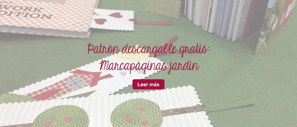 patrón marcapáginas gratis patchwork